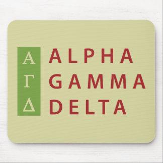 Alfombrilla De Ratón Delta gamma alfa apilado