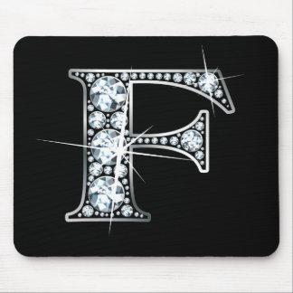 """Alfombrilla De Ratón Diamante Bling Mousepad de """"F"""""""
