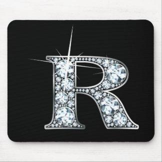 """Alfombrilla De Ratón Diamante Bling Mousepad de """"R"""""""