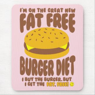 Alfombrilla De Ratón Dieta sin grasa de la hamburguesa