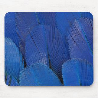 Alfombrilla De Ratón Diseño azul de la pluma del Macaw del jacinto