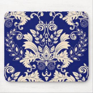 Alfombrilla De Ratón Diseño azul y blanco de la impresión del modelo