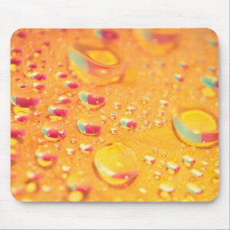 Alfombrilla De Ratón diseño colorido brillante de la gotita de agua