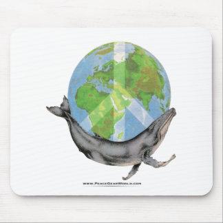 Alfombrilla De Ratón Diseño de la paz de la ballena jorobada
