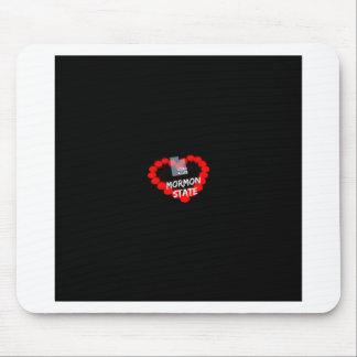 Alfombrilla De Ratón Diseño del corazón de la vela para el estado de
