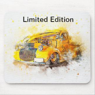 Alfombrilla De Ratón Diseño Mousepad del coche del amarillo del vintage