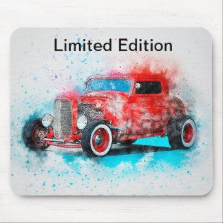 Alfombrilla De Ratón Diseño rojo Mousepad del coche del vintage de la