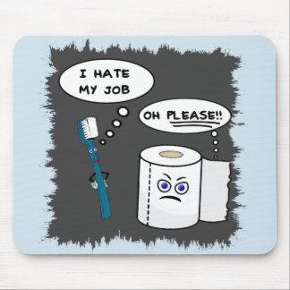 Alfombrilla De Ratón Divirtiendo odio mi trabajo Mousepad