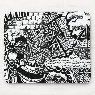 Alfombrilla De Ratón Doodle Mousepad del océano de la selva
