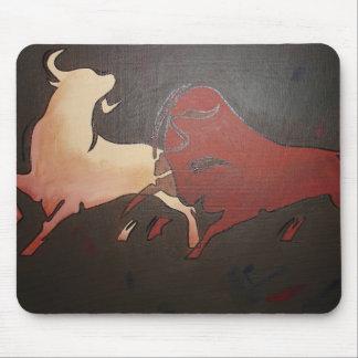 Alfombrilla De Ratón Dos toros que luchan