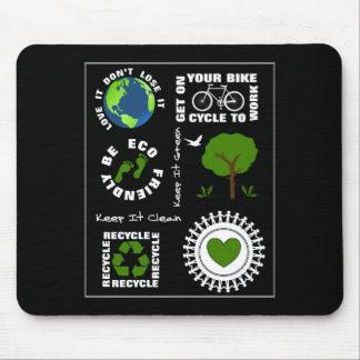 Alfombrilla De Ratón Eco amistoso va tierra verde del planeta del amor