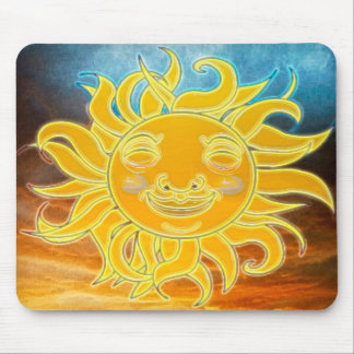 Alfombrilla De Ratón Edad de Celetial Sun de la sol nueva
