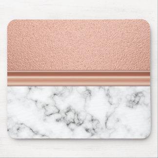 Alfombrilla De Ratón Efecto metalizado de oro color de rosa en el