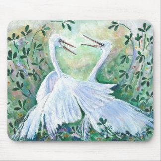Alfombrilla De Ratón Egrets blancos - cojín de ratón