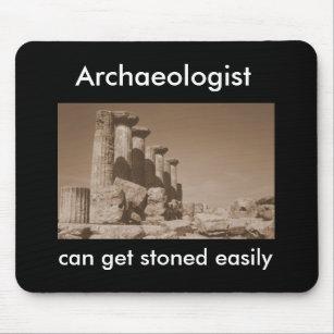 Alfombrilla De Ratón El arqueólogo puede conseguir empedrado fácilmente