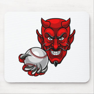 Alfombrilla De Ratón El béisbol del diablo se divierte la mascota