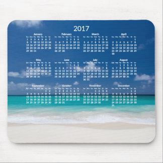 Alfombrilla De Ratón El calendario anual de la playa Mousepads 2017