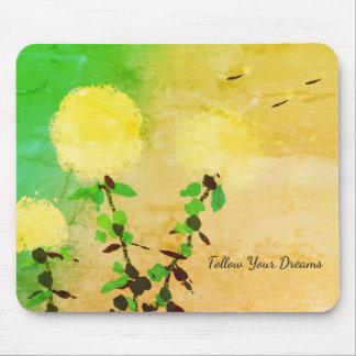 Alfombrilla De Ratón El _Follow Dreams_Motivational_ de Pad_Dandelion