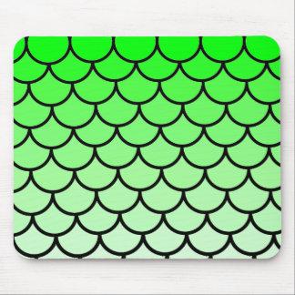 Alfombrilla De Ratón El lagarto de dragón verde escala Mousepad