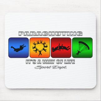 Alfombrilla De Ratón El lanzarse en paracaídas fresco él es una manera