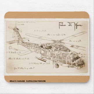 Alfombrilla De Ratón El MH-60 Seahawk Mousepad de da Vinci