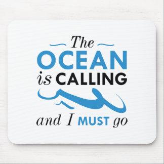 Alfombrilla De Ratón El océano está llamando