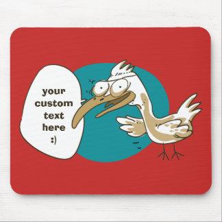 Alfombrilla De Ratón el pájaro divertido dice algo dibujo animado