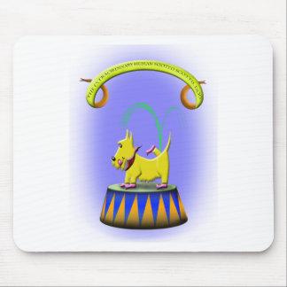 Alfombrilla De Ratón el perro con base humano extraordinario del