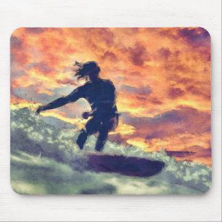 Alfombrilla De Ratón El practicar surf