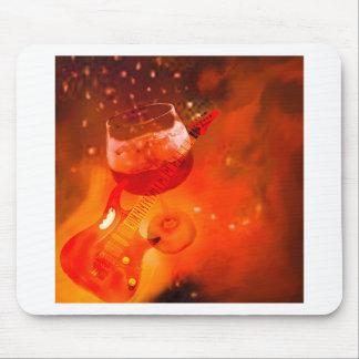 Alfombrilla De Ratón El vino y la música son esenciales en nuestra