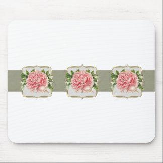 Alfombrilla De Ratón El vintage rosado florece de par en par