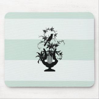 Alfombrilla De Ratón Elegante-Estado-Celadon-Raya-Pájaro-Emblema