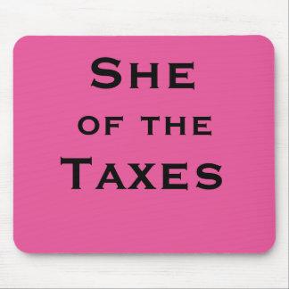 Alfombrilla De Ratón Ella del contable o del preparador femenino del