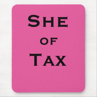 Alfombrilla De Ratón Ella del preparador de impuesto femenino del