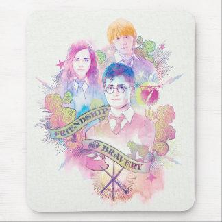 Alfombrilla De Ratón Encanto el   Harry, Hermione, y Ron Waterc de