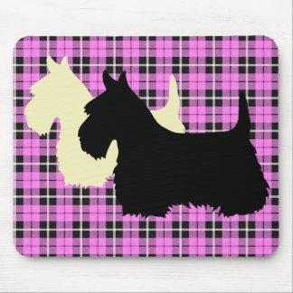 Alfombrilla De Ratón Escocés tela escocesa negra/de trigo de Terrier de