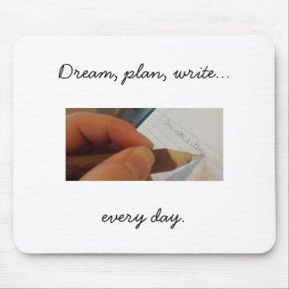 Alfombrilla De Ratón Escriba cada día Mousepad, blanco