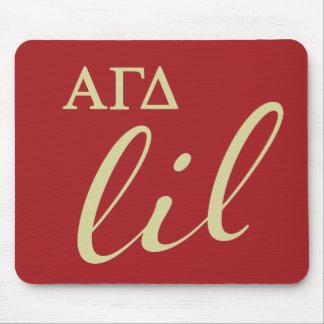 Alfombrilla De Ratón Escritura gamma alfa de Lil del delta