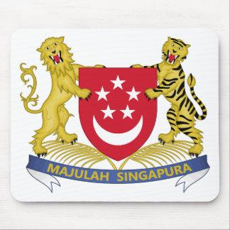 Alfombrilla De Ratón Escudo de armas del emblema del 新加坡国徽 de Singapur