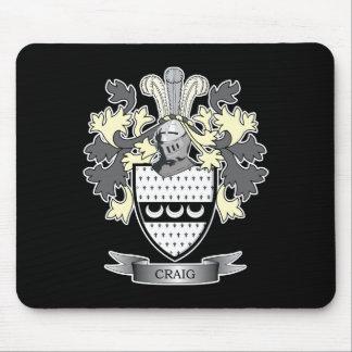 Alfombrilla De Ratón Escudo de armas del escudo de la familia de Craig