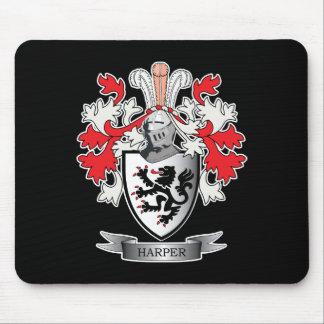Alfombrilla De Ratón Escudo de armas del escudo de la familia de Harper