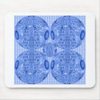 Alfombrilla De Ratón Esferas psicodélicas azules