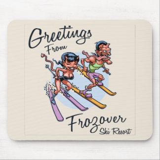 Alfombrilla De Ratón Estación de esquí de Frozover