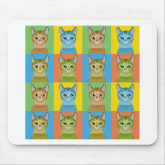 Alfombrilla De Ratón Estallido-Arte abisinio del gato