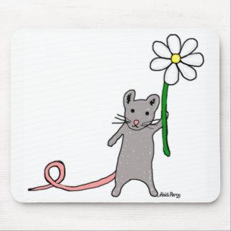 Alfombrilla De Ratón Estera linda del ratón del arte del ratón y de la