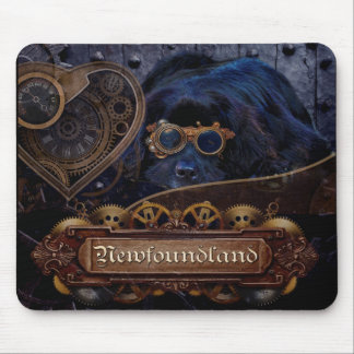 Alfombrilla De Ratón ¡Estilo de Steampunk del perro de Terranova!