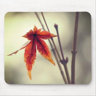 Alfombrilla De Ratón Estilo japonés del vintage de las hojas de arce