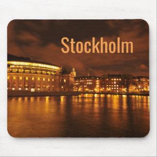 Alfombrilla De Ratón Estocolmo, Suecia en la noche