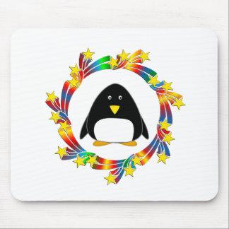 Alfombrilla De Ratón Estrellas del pingüino