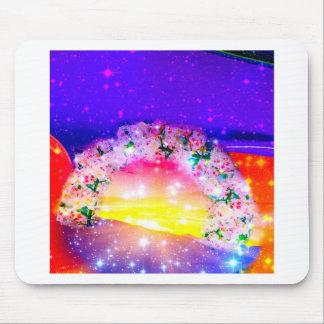 Alfombrilla De Ratón Estrellas y arco iris de flores en la celebración